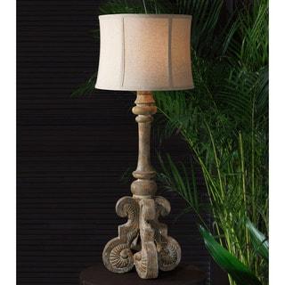 Cavour Concrete Metal Fabric Glass Floor Lamp