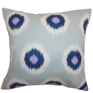 Paegna Ikat Berries Feather Filled 18-inch Throw Pillow