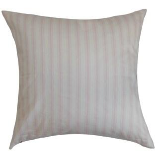 Kelanoa Stripes Bella Twill Feather Filled 18-inch Throw Pillow