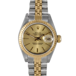 Pre-owned Rolex Women's Champagne Index Dial Watch
