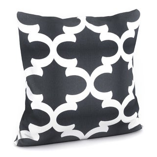 Titian Geometric Black White Feather Filled 18-inch Throw Pillow