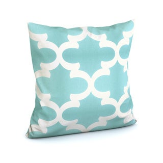 Titian Geometric Spirit Blue Feather Filled 18-inch Throw Pillow