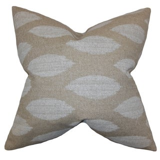 Juliaca Ikat Natural Feather Filled 18-inch Throw Pillow