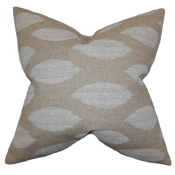 Juliaca Ikat Natural Feather Filled Throw Pillow