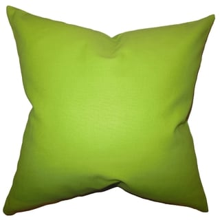 Kalindi Solid Chartreuse Feather Filled 18-inch Throw Pillow