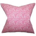 Themis Zebra Print Pink Feather Filled 18-inch Throw Pillow