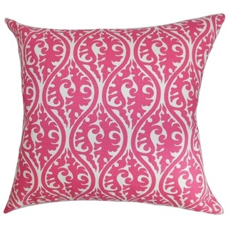 Mechria Geometric Candy Pink Feather Filled 18-inch Throw Pillow