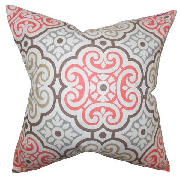 Nascha Geometric Bitter Sweet Feather Filled 18-inch Throw Pillow