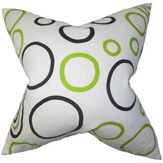 Curran Geometric Feather Filled 18-inch Throw Pillow