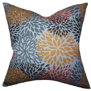 California Floral Yellow Feather Filled 18-inch Throw Pillow
