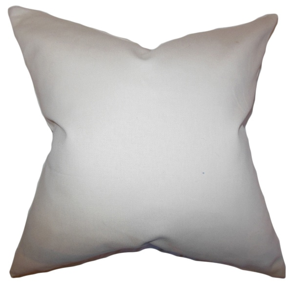 Mabel Solid Khaki Feather Filled Throw Pillow