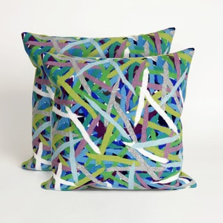 Chopsticks 20-inch Throw Pillow (Set of 2)
