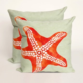 Sea Star 20-inch Throw Pillow (Set of 2)