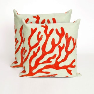 Coral Fan 20-inch Throw Pillow (Set of 2)