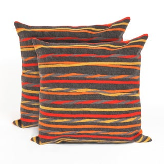 Swirl Stripe 20-inch Throw Pillow (Set of 2)