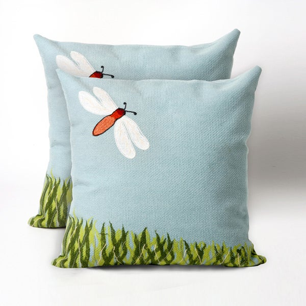 Needle Bug 20-inch Throw Pillow (Set of 2)