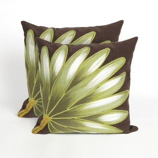 Giant Leaf 20-inch Throw Pillow (Set of 2)