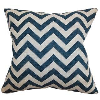 Xayabury Zigzag Titan Birch Feather Filled 18-inch Throw Pillow