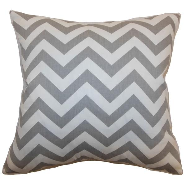 Xayabury Zigzag Ashes Feather Filled 18-inch Throw Pillow
