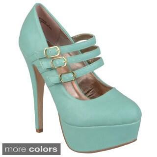 Journee Collection Women's 'Realove-02x' High Heel Platform Mary Janes