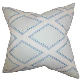 Alaric Geometric Chambray Feather Filled 18-inch Throw Pillow
