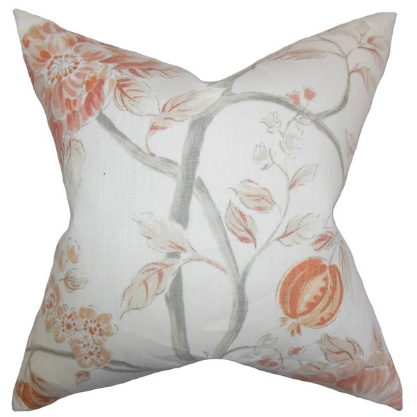 Ivria Floral Bloom Feather Filled 18-inch Throw Pillow