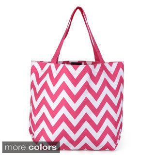 Journee Collection Women's Double Handle Chevron Print Tote Bag