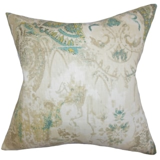 Havilah Floral Natural Feather Filled 18-inch Throw Pillow