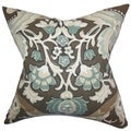 Kiriah Floral Storm Feather Filled 18-inch Throw Pillow