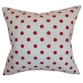 Nancy Polka Dots White Lipstick Feather Filled 18-inch Throw Pillow