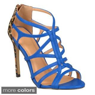 Journee Collection Women's 'Golden-1' Strappy High Heel Sandals