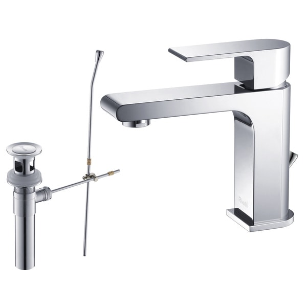 Rivuss Danube Lead-Free Solid Brass Single-Lever Bathroom Faucet Chrome Finish with Pull-Out Drain