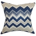 Quirindi Zigzag Birch Feather Filled 18-inch Throw Pillow