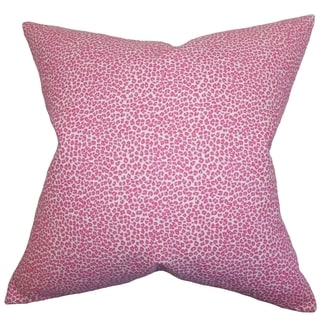 Doretta Animal Print Pink Feather Filled 18-inch Throw Pillow