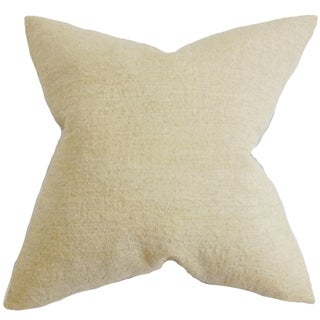 Yaretzi Solid Natural Feather Filled 18-inch Throw Pillow