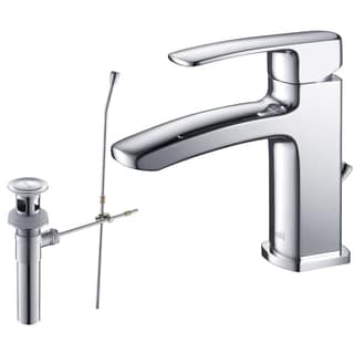 Rivuss Ebro Lead-Free Solid Brass Single-Lever Bathroom Faucet Chrome Finish with Pull-Out Drain