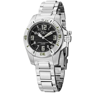 Ball Women's DL1016C-SAJ-BK 'Engineer Hydrocarbon' Black Dial Stainless Steel Midsize Watch