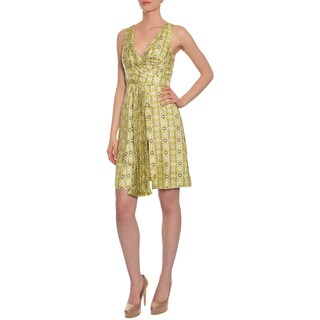 Emanuel Ungaro Women's Geo Print Silk Cocktail Evening Dress