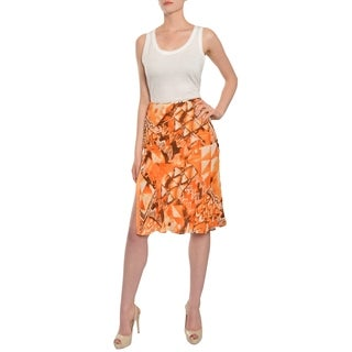Escada Women's Abstract Print Silk Overlay Skirt