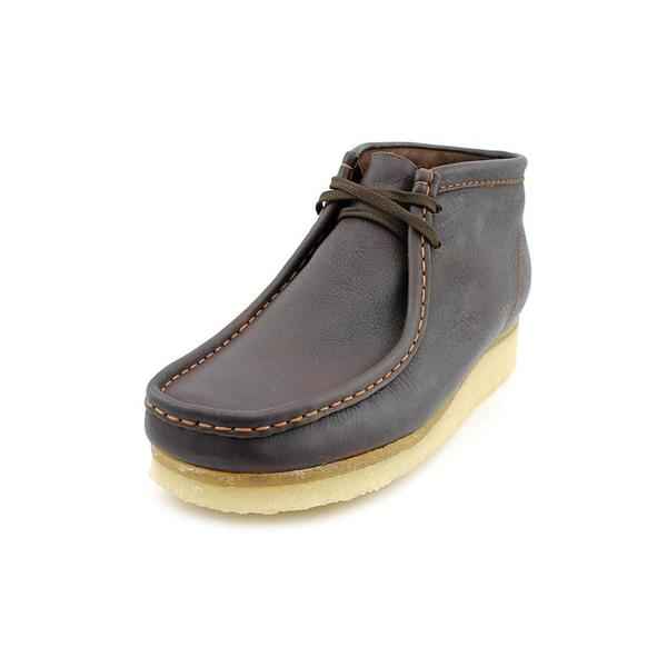 Clarks Men's Wallabee Brown Oily Leather Boots
