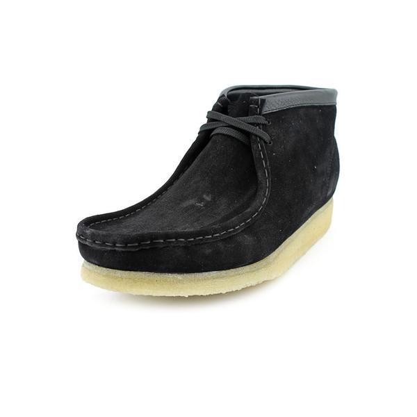 Clarks Men's Wallabee Black Suede Ankle Boots