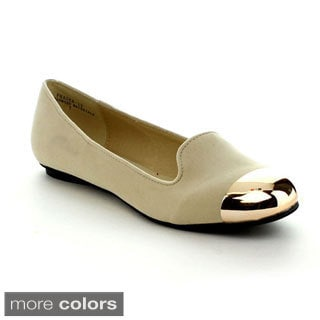 Rck Bella Women's 'Fraser-13' Metal Cap-toe Flats