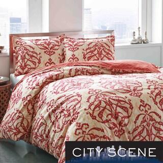 City Scene Imperial Medallion Cotton Reversible 3-piece Comforter Set