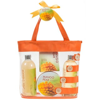 Mango Pear Orange Tote Bag Spa Gift Set