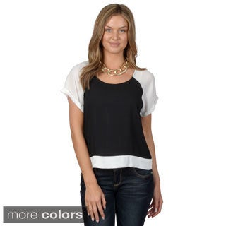 Hailey Jeans Co. Junior's Raglan Sleeve Cropped Top