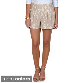 Hailey Jeans Co. Junior's Band Waist Print Shorts