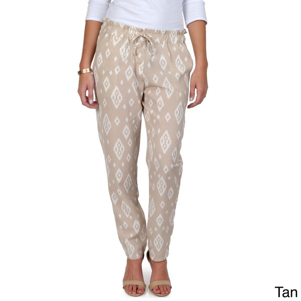 Hailey Jeans Co. Junior's Drawstring Waist Print Pants
