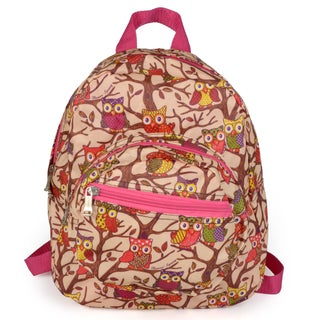Journee Collection Women's Small Owl Print Backpack