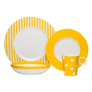 Red Vanilla Freshness Mix Yellow 4-piece Place Setting