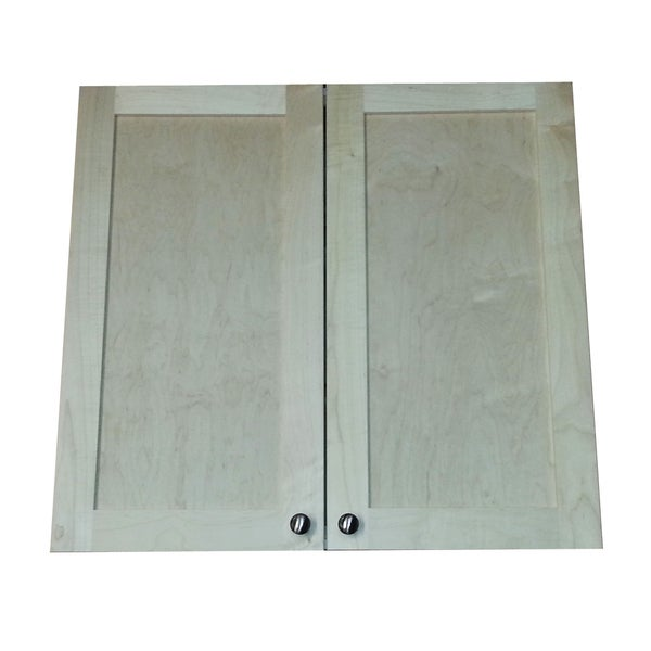 22-inch Recessed In the Wall Double Door Frameless Medicine Cabinet